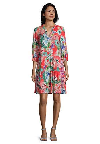 Betty Barclay Collection Damen 1061/1429_4885 Kleid, Pink/Dark Blue, 36
