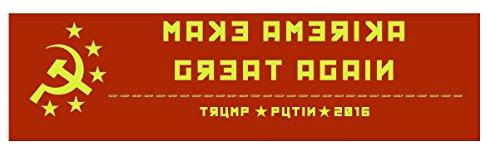 Soviet Make America Great Again Trump Putin 2016 Bumper Sticker