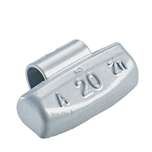 PERFECT EQUIPMENT 100x Schlaggewichte Alufelgen Typ63 20g Silber | Schlaggewichte Alu Auswuchtgewichte Alufelgen | Wuchtgewichte Alufelgen