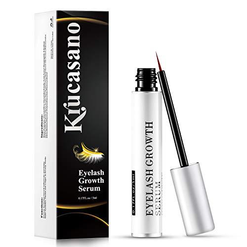Krucasano Eyelash Growth Serum, Lash Serum to Grow to Lashes by Natural Extract Lengthening Formula for Dense Black Curl Lashes 5ml (Packaging May Vary)