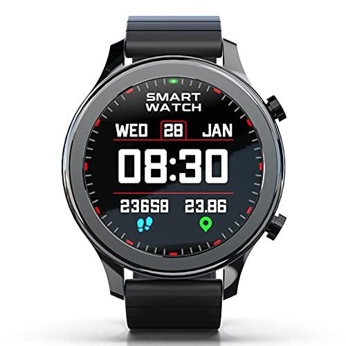 BNMY Smartwatch Relojes Inteligentes Hombre Reloj Inteligente con Pulsómetro Cronómetros, Calorías, Monitor De Sueño, Impermeable IP68 Reloj Deportivo para Android iOS,Negro