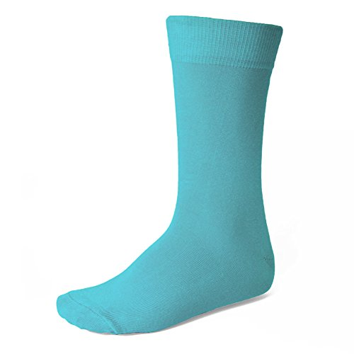 TieMart Men's Turquoise Socks