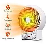 Aigostar Airwin White 33IEK -2000W Calefactor de aire con termostato regulable, función de aire caliente de dos niveles o ventilador con temperatura ambiente, color blanco.