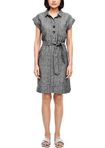 s.Oliver Damen Kleid kurz black melange 44