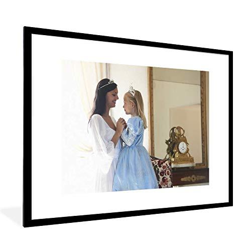 Moeder en dochter in verkleedkleren 80x60 cm