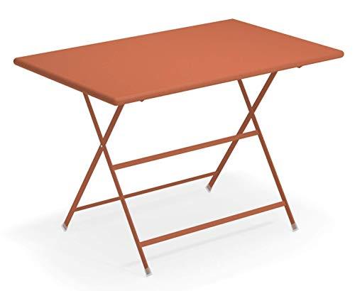 Emu Arc en Ciel Table rectangulaire Pliant cm. 110x70 Art. 331 Code Couleur Rouge 'Érable Cod. 26