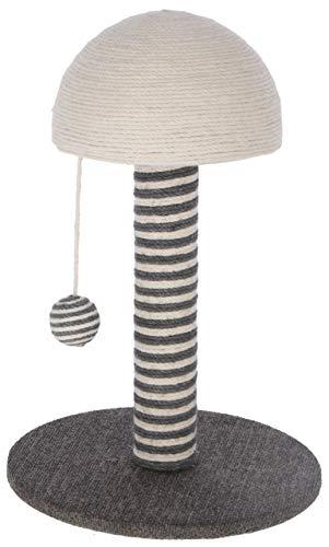 Maxi-Pet 81626 - Colonna tiragraffi Funghi, Grigio, 30 x 30 x 42 cm