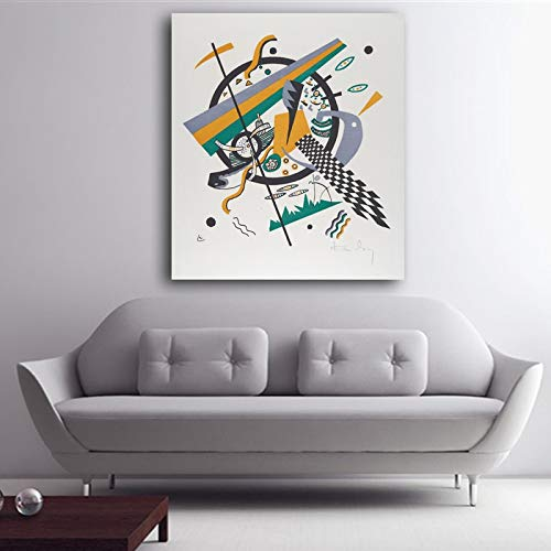 5D diamant schilderij kit kruissteek cm Wassily Kandinsky kleine werelden IV waterdichte stof Wall Decor