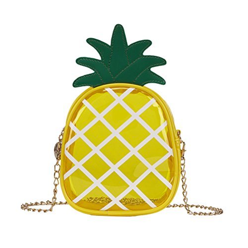 FENICAL Ananas Tasche Schultertasche Lässige Mode Mädchen Umhängetasche für Frauen Mädchen (gelb)