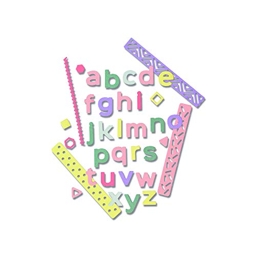 Sizzix Thinlits Troqueles 33PK Alfabeto Pop Art (Minúsculas)