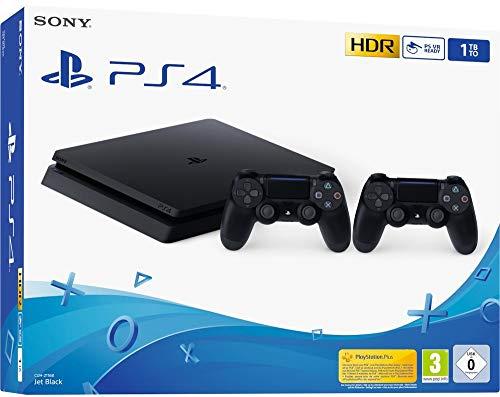 Playstation 4 (PS4) - Console Slim 1TB + 2 Controles Dual Shock 4 - Nouveau chassis F