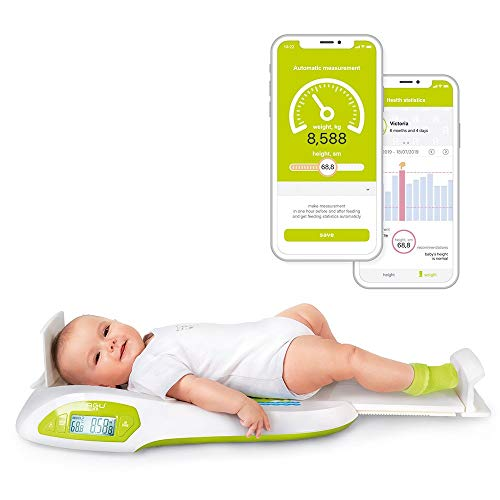 Wally Babywaage Baby Wage Kinderwaage - Smart Digitalwaage mit App AGU Elektronische Digitale