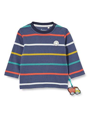 Sigikid Baby-Jungen Langarmshirt aus Bio-Baumwolle, Größe 062-098 Pullover, Blau/Klecks, 80