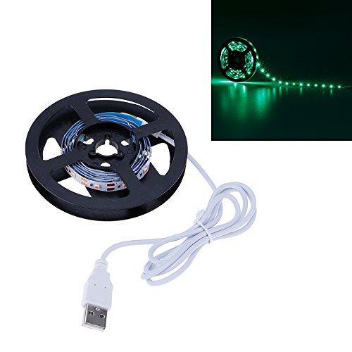 VANKER Flexible 3528SMD USB 5V LED Chambre Boutique Laptop TV Rétroéclairage Bande de Lumière 1M Vert