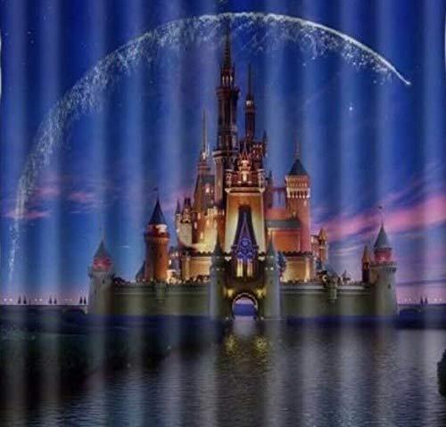 FANG2018 Cinderella Castle Stoff Disney strapazierfähiger Stoff Schimmel Bad Zubehör Kreativ mit 12 Haken 180 x 180 cm