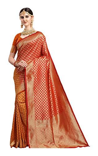 Ethnicjunction Women's Kanchipuram Silk Half Saree With Blouse Piece