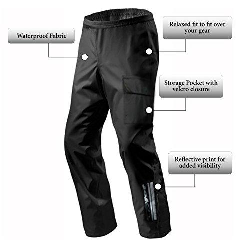 """JET Pantalones Moto de Lluvia con Estuche de Transporte (36"""" / EU 46 (XL))"""