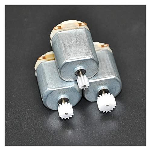 HYCy Generadores al Aire Libre 3 Piezas / 130 pequeño Motor de CC de 3 a 5 V Motor en Miniatura Motor de Cuatro Ruedas pequeño + (Paquete de Engranajes 3 Piezas) Kit de generador de Vie