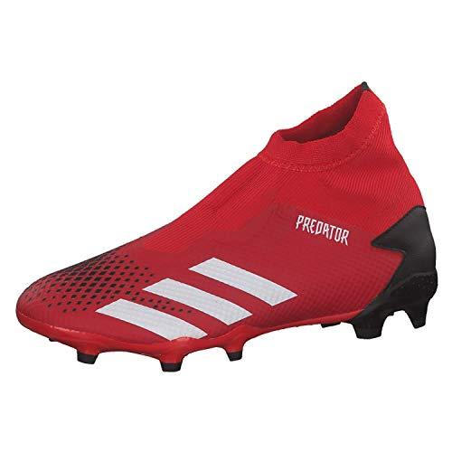 adidas Predator 20.3 Ll Fg, Scarpe da Calcio da Uomo, Grigio (Rosso Attivo/Bianco Ftwr/Nero Core), 42 EU