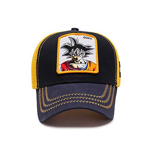 MINGZUO Casquette Goku Dragon Ball Z Chapeau Mesh Vegeta & Kame & Frieza Casquette De Baseball Hommes Snapback (Orange1)
