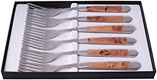 Forge de Laguiole Table forks, 6 parts, Juniper wood, stainless