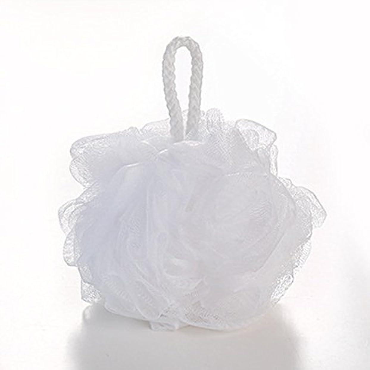 契約する組み込むあさりAMAA 泡立てネット ボディ 花形 ふわわん フラワー バス  (白)