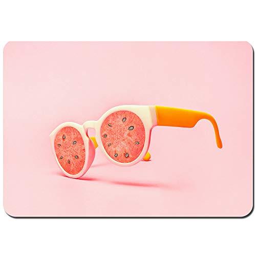 kThrones Antideslizante Alfombra De Baño,Concepto de Gafas de Sol de Playa sandía en Rosa,Alfombra de Cocina Alfombra Mascota,Alfombras de Ducha 75x45cm