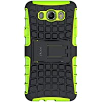 ykooe Funda Galaxy J7 2016, (TPU Series) Samsung J7 Híbrida Doble Capa Teléfono Móvil Carcasa Antigolpes Funda con Soporte para Samsung Galaxy J7 (2016)