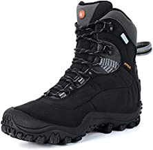 Manfen Women's Hiking Boots Lightweight Waterproof Hunting Boots, Ankle Support, High-Traction Grip Black, 10.5