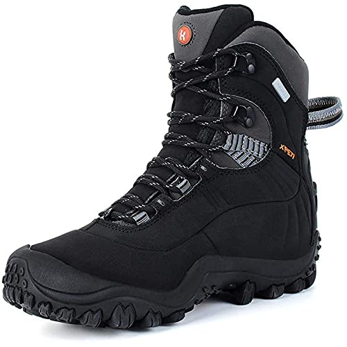 Manfen Women's Hiking Boots Lightweight Waterproof Hunting Boots, Ankle Support, High-Traction Grip Black (Black, 7.5)