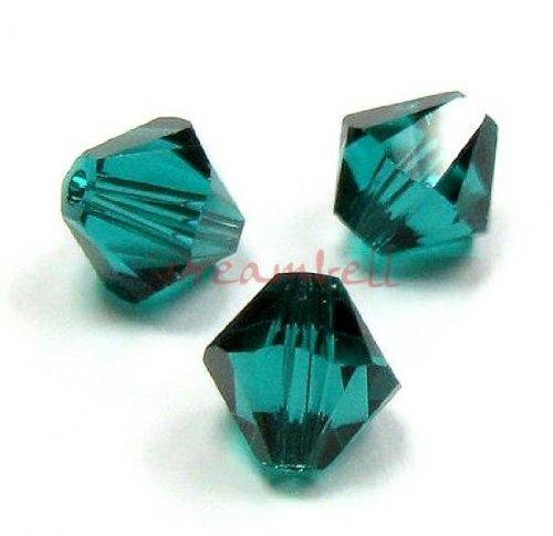 TCC Sourcing - Juego de 72 cuentas de cristal Swarovski Elements 5328 Xilon, 4 mm, esmeralda