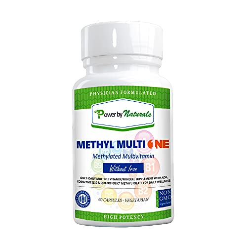 Power by Naturals Methyl Multi One Multivitamin Without Iron, Vitamin...