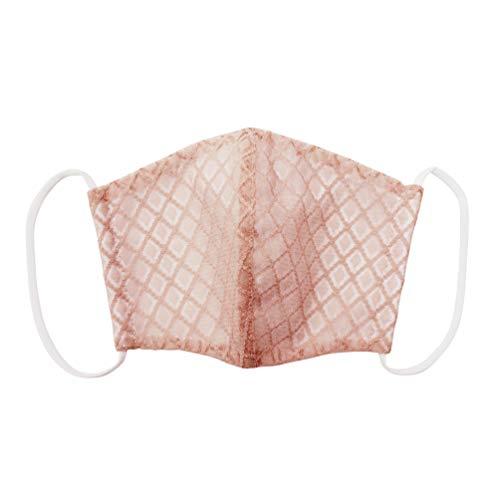 [オオキニ] レースマスク マスク 冷感 天然抗菌 Comfort cool 夏用 立体型 キシリトール 吸湿冷感 (ピンク/ダイヤ)