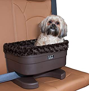 Pet Gear Booster Seat for Dogs/Cats, Removable Washable Comfort Pillow + Liner, Safety Tethers Included, Installs in Seconds, No Tools Required, Chocolate/Swirl, 16