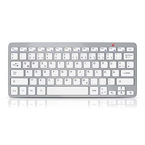 CSL - Kabellose Funk Tastatur - WirelessKeyboard - QWERTZ Layout - 5m Reichweite - Kompatibel mit Windows 10 für PC Mac Notebook Laptop