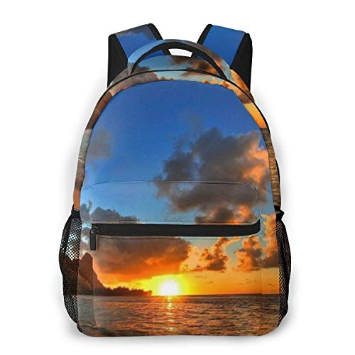 Lawenp Fashion Unisex Backpack Sunrise Art Bookbag Lightweight Laptop Bag for School Travel Outdoor Camping