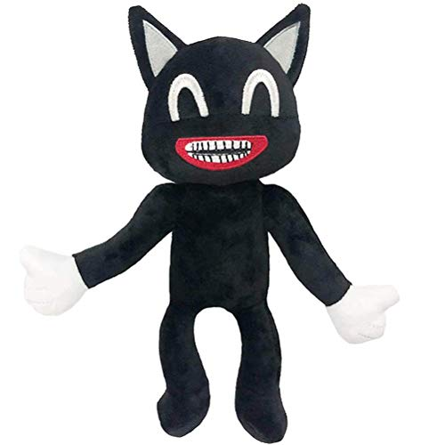 Tangshi Siren Head Plush Toy, Black Cartoon Cat Soft Anime Doll for Kids Birthday Christmas New Year Gift Decoration