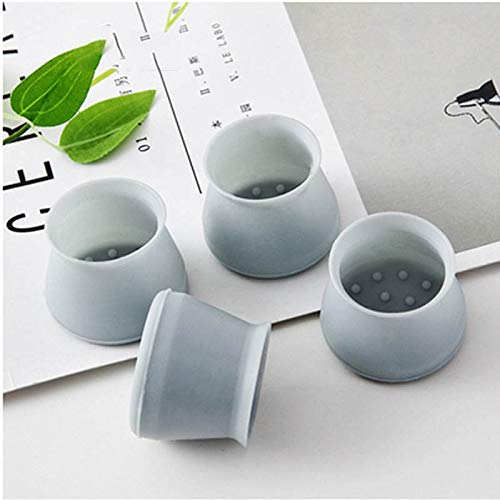 Furniture Silicon Protection Cup Cover,FW ZONE Chair Leg Caps Silicone Floor Protector Round Furniture Table Feet Covers (32, Grey)