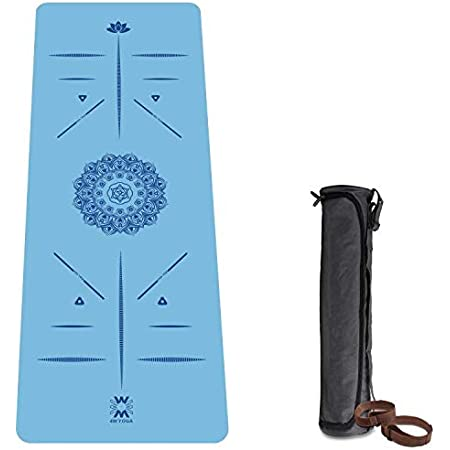 Non Slip Eco-Friendly TPE Material with Body Alignment System for Yoga,Pilates and Indoor Exercises Timberbrother Yoga Mat