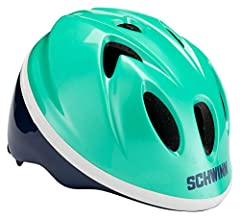 Bike helmet that little ones will love to wear Fits mosts riders ages 0 - 3 years Integrated visor helps to shield eyes from the sun Schwinn 360° comfort with dial fit adjustability and full-range padding for the perfect custom fit Lower molded shell...