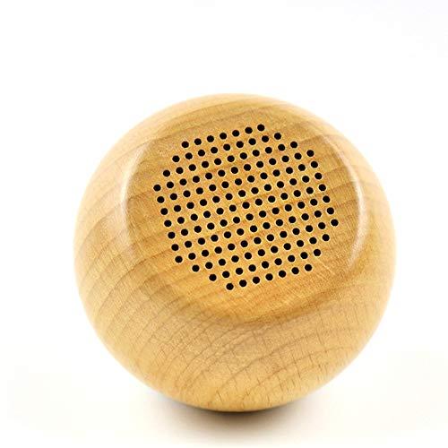 ZHAORLL Drahtloser Bluetooth-Lautsprecher Holz, Massivholz Creative Manual Subwoofer, Mini-Selbstauslöser TWS Portable Phone Audio