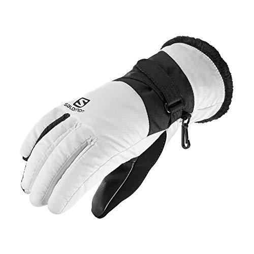 Salomon Damen Handschuhe, FORCE DRY W, Atmungsaktiv, Weiß/Schwarz, Gr. M, L40424400