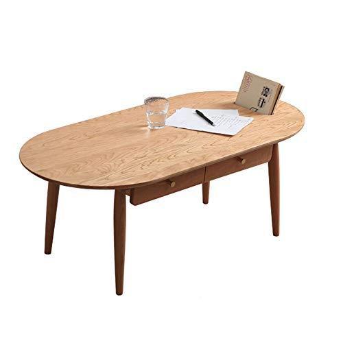 Huangwanru Kaffee-Tee-Tisch Kirschholz Couchtisch Nordic japanischen Stil Massivholz Niedriger Tisch Kleine Wohnung Wohnzimmer Drawer Storage Couchtisch Lagerung Schlafzimmer Kleiner Raum