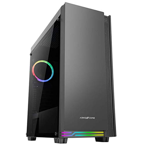 ABKONCORE Cronos 710S Midi Tower Gaming Box, RGB Beleuchtung, Glasfenster