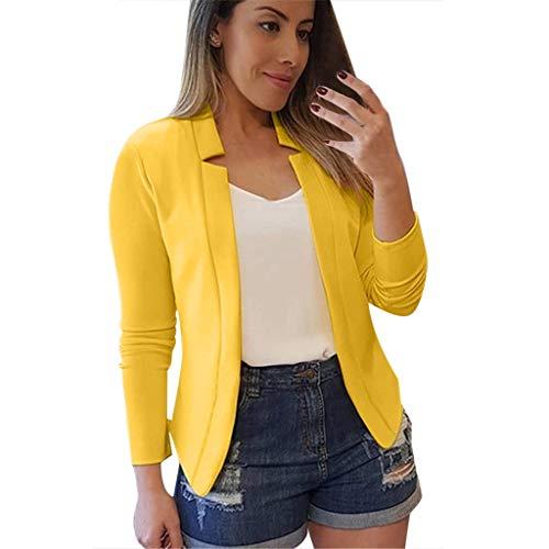 Luckycat Blazer Mujer Talla Grande Elegante OL Casual OtoñO Slim Fit Oficina Negocios Abrigo Mujeres Blazers Chaqueta de Traje Slim Fit Elegante Oficina Negocios Outwear