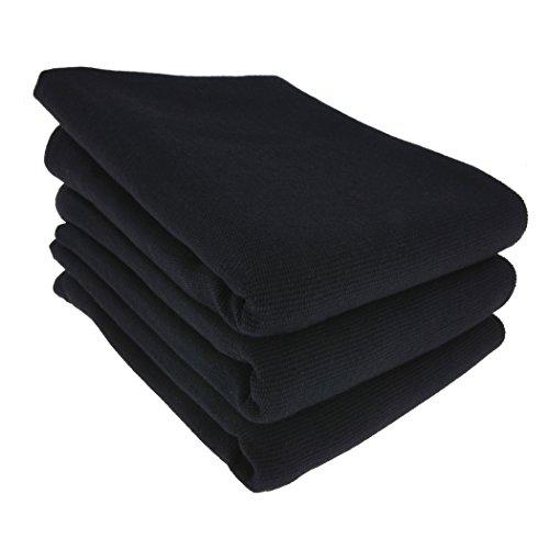 Daloual 3X Geschirrtuch/Küchentuch/Putztuch/Poliertuch aus 100% Baumwolle in schwarz