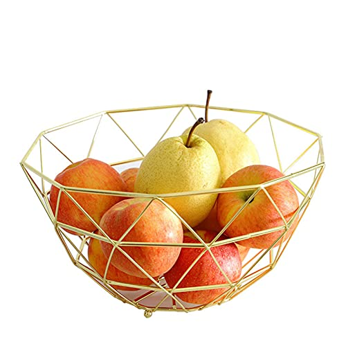 The Living Room Fruit Dish Creative Fruit Bowl Basket of Fashion Luxury Candy Dish Dry Pots,farmhouse Wire Basket Stand and More Dining Table & Kitchen Counter
