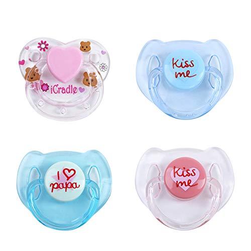 KTOO 4 piezas de suministros para muñecas Reborn, chupetes magnéticos, accesorios para muñecas Reborn realistas, pezones magnéticosAccesorios para muñecas bebé