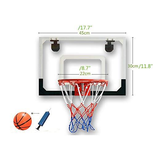 Tablero de baloncesto transparente para colgar en la pared, canasta de baloncesto para niños Leisure Rebound, canasta pequeña fácil de colgar, tablero combinado a prueba de golpes y kit combinado de