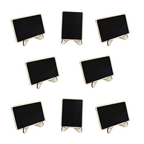 ROSENICE Kleine Tafel 10 Stück Kreidetafel Memotafel Notiztafel Tischkarte Holz Hochzeit Tafel Mini Tafel mit Ständer
